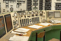 Control panel of a power plant Royalty Free Stock Photo