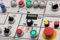 Control panel of turning machining center Royalty Free Stock Photo
