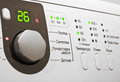 Control panel of white washing machine Royalty Free Stock Photo