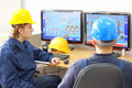 Control room industrial workers in Stock Images