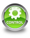 Control (settings icon) glossy green round button