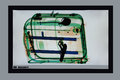 Control suitcase x ray screenshot in the airport on the safety Stock Photo