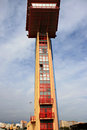 Control tower of maritime building, Almeria, Spain Stock Image