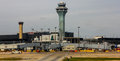 Control Tower at O'Hare Airport, Chicago, IL. Royalty Free Stock Photo