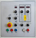 Control unite of machine with coppy space Royalty Free Stock Photo
