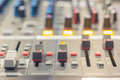 The controls of an Audio Mixing Royalty Free Stock Photo