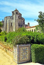Convent of christ the is a former roman catholic monastery in the civil parish tomar e santa maria dos olivais in the Stock Photo