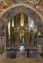 Convent of the order of christ of tomar interior chantry in portugal Stock Photography
