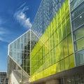 Convention center the palais des congrès de montréal is a located in the quartier international de montréal at the north end of Royalty Free Stock Images
