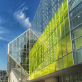 Convention center the palais des congrès de montréal is a located in the quartier international de montréal at the north end of Royalty Free Stock Images