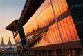 Convention center sunrise vancouver s and canada place on burrard inlet at dawn british columbia canada Stock Photos