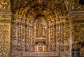 Convento de sao francisco church the rich baroque architecture of in salvador bahia brazil with its carved walls saint images and Stock Image