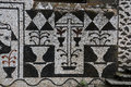 Convento santa cruz cloister of the holy cross in bussaco forrest was founded detail of the wall Royalty Free Stock Photography