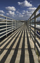 Converging lines on fishing Pier Royalty Free Stock Photo