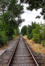 Converging Railway tracks Royalty Free Stock Photo