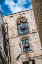 Conversano italy beautiful gothic architecture in the old town of Stock Images
