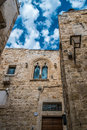 Conversano italy beautiful gothic architecture in the old town of Stock Photography