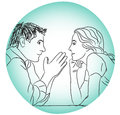 Conversation couple love dating evening without rules concept