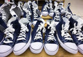 Converse shoes a lots of in store Royalty Free Stock Photography