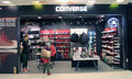 Converse shop in hong kong located east point city shopping mall tseung kwan o offers designs for men women and children Royalty Free Stock Photos