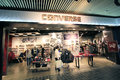 Converse shop in hong kong located langham place mong kok is a shoes retailer Royalty Free Stock Photos