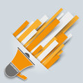 Convert growth paperstripes bullhorn paper lines with on the gray background Stock Images