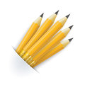 Convert pencils bag on the white background Stock Photo