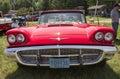 Convertible front view de hard top de ford thunderbird de rouges Image stock