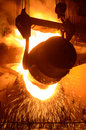 A converting furnace in steel production is one of the units for the of Royalty Free Stock Photo