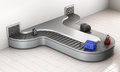 Conveyer belt at the airport. Baggage claim. 3d rendering