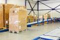 Conveyer ramp Stock Photo