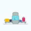 Conveyor belt in airport