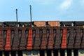 Conveyor and Coal Cars Royalty Free Stock Photo