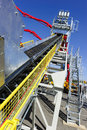 Conveyor of mining machine Royalty Free Stock Photo
