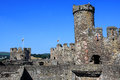 Conwy castle wales ruins of medieval fortification in Stock Images