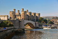Conwy Castle in Wales, United Kingdom, series of Walesh castles Royalty Free Stock Photo