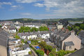 Conwy town view across medieval old of in wales Stock Images