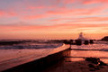 Coogee rockpool at dawn Royalty Free Stock Photo