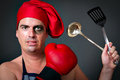 Cook chef olimpic boxing Royalty Free Stock Photo