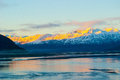 Cook inlet in fall as the sun sets Stock Images