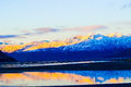 Cook inlet in fall as the sun sets Royalty Free Stock Photography