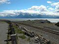 Cook inlet near anchorage alaska s is surrounded with beautiful mountains Stock Photography