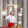 Cook at kitchen Royalty Free Stock Photo
