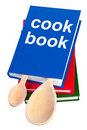 Cookbook and kitchenware. Royalty Free Stock Image