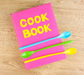 Cookbook and kitchenware Stock Image