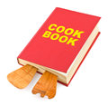 Cookbook kitchenware white background Royalty Free Stock Photos