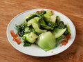 Cooked Chinese vegetable bok choy Royalty Free Stock Photo