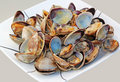 Cooked Clams Stock Photo