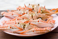 Cooked crabs Stock Photos