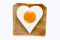 Cooked egg on toast Royalty Free Stock Photography